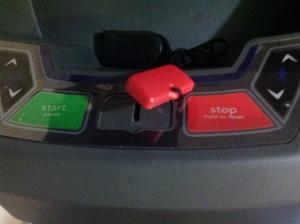 Safety key interruption.